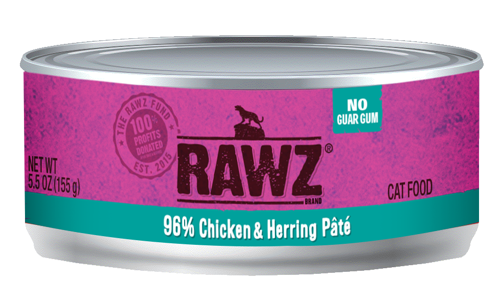 RAWZ CAT 96% CHICKEN & HERRING PÂTÉ