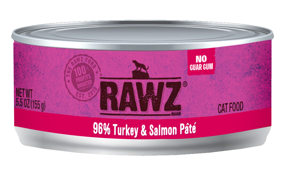 RAWZ CAT 96% TURKEY & SALMON PÂTÉ