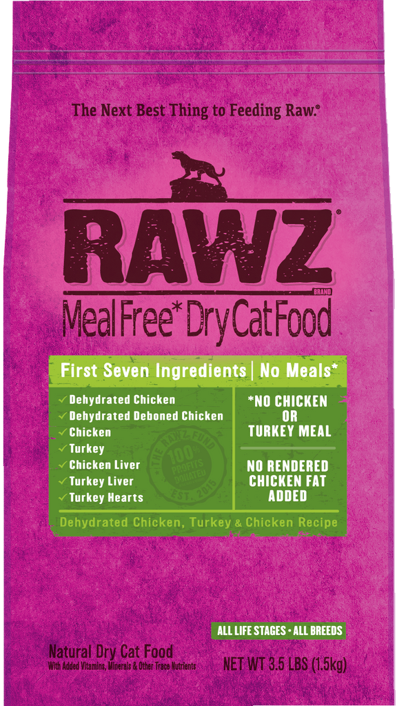RAWZ CAT Dehydrated Chicken, Turkey & Chicken Recipe