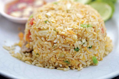 Khao Pad Poo - Stir-fried rice with eggs