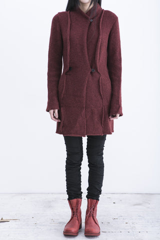 m.a+ long knitted jacket