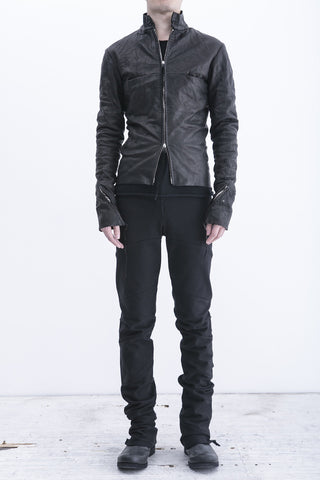 m.a+ zipped sleeves biker jacket