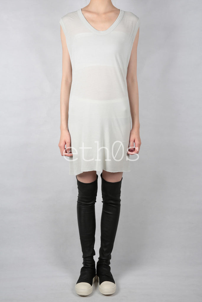 rick owens v neck sleeveless tee