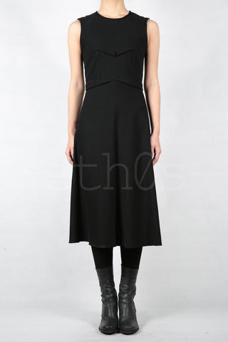 m.a+ back zipped pinched dress