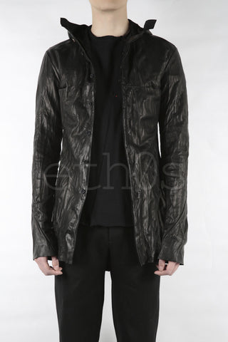 m.a+ long hooded button jacket