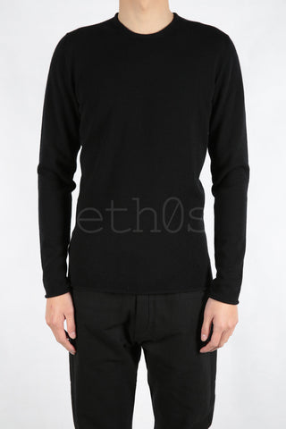 luc jacket cut cashmere sweater