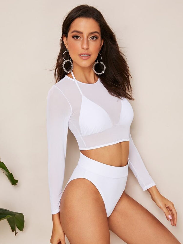 White Top Swimsuit