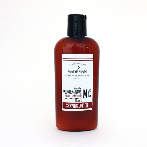 "4 oz ""The Self-Made Man"" Citrus+Cedarwood Shaving Lotion"