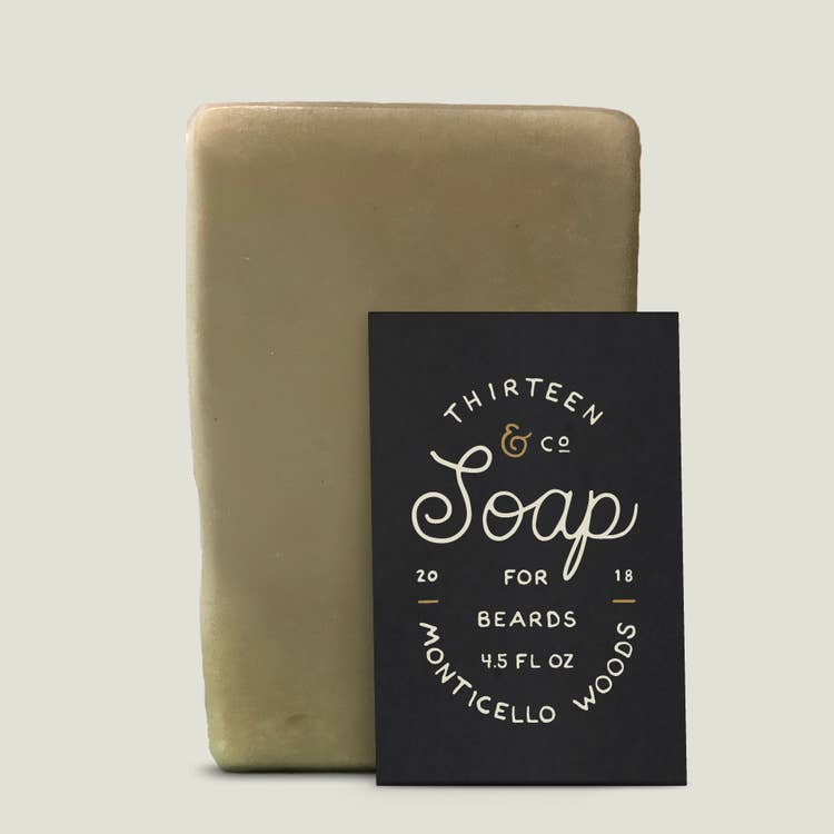4.5 oz Monticello Woods Beard Soap