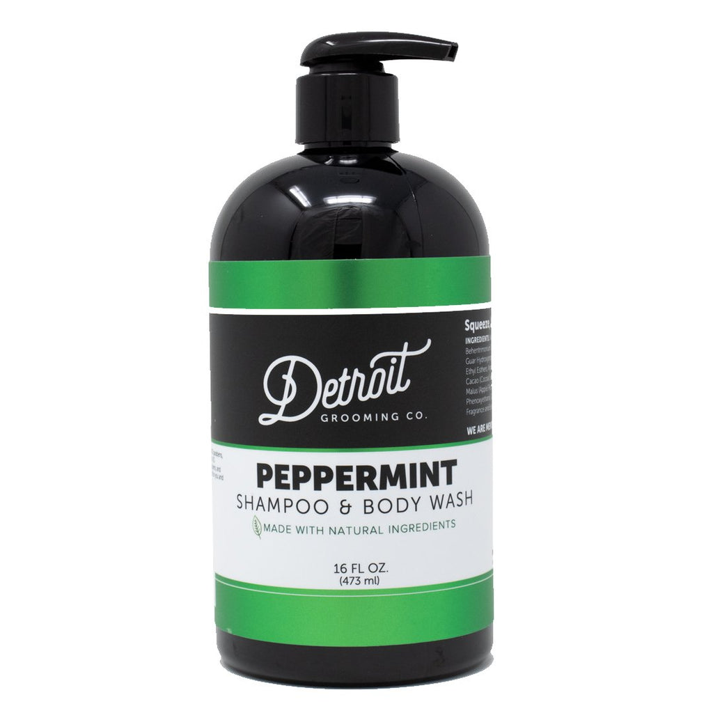 16 oz Detroit Grooming Men's Shampoo - Peppermint