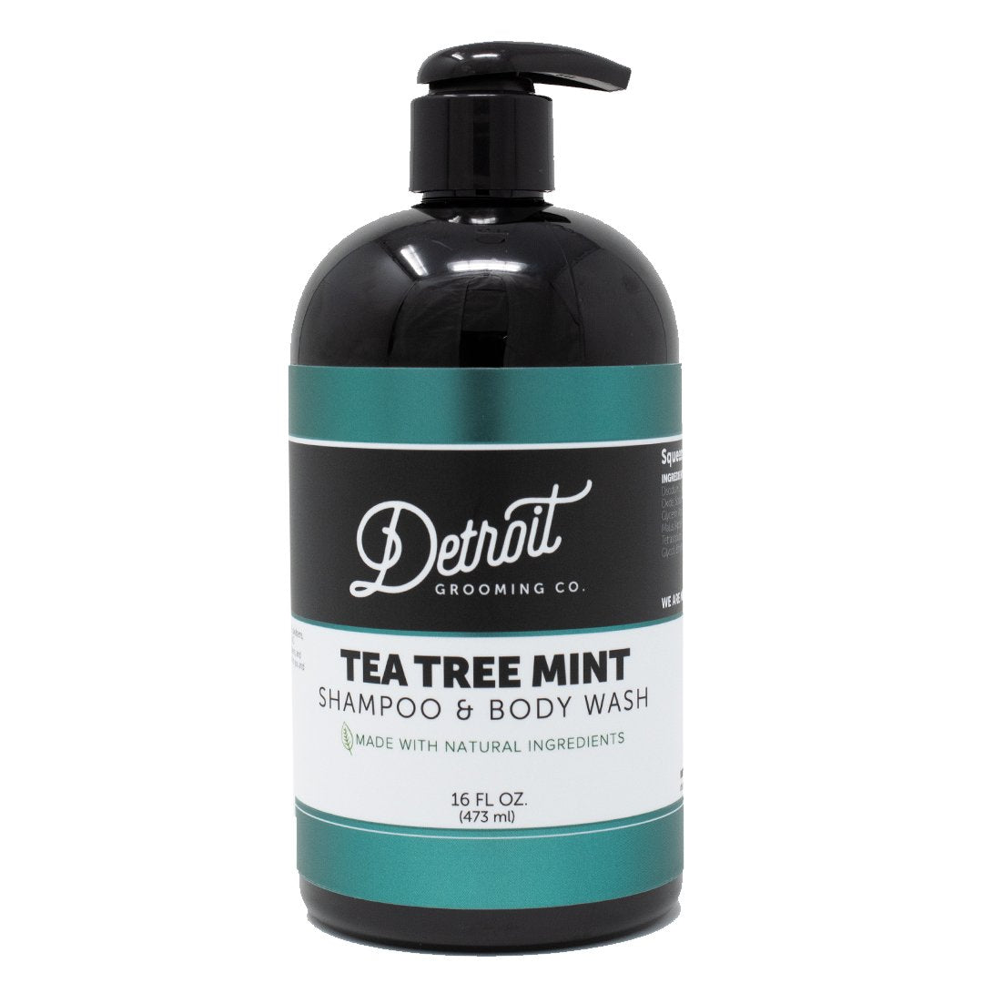 16 oz Detroit Grooming Men's Shampoo - Tea Tree Mint