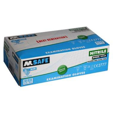 M-Safe 4525 disposable nitril handschoen (per 1 dispenser)