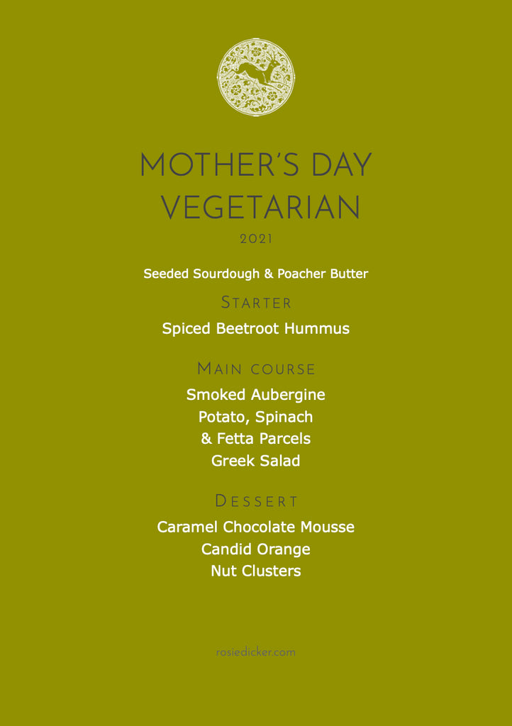 Mother's Day Vegetarian Menu
