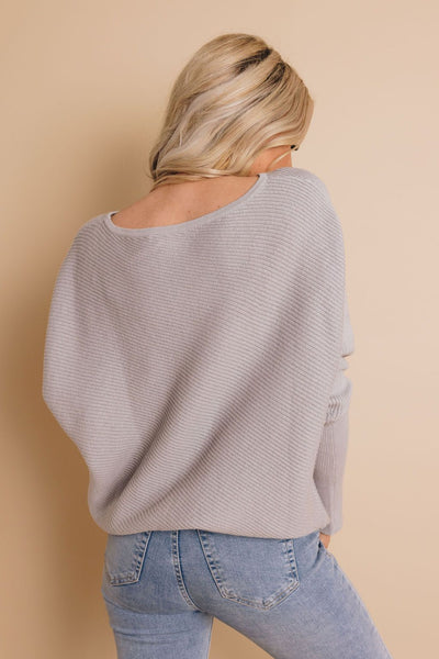 Brandy Slouched Shoulder Sweater