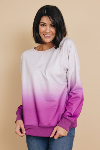Not Over Yet Ombre Sweatshirt