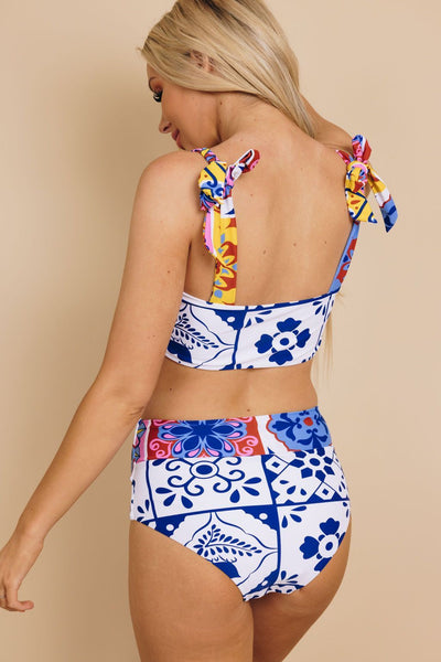 Unforeseen Tribal Print Swimsuit