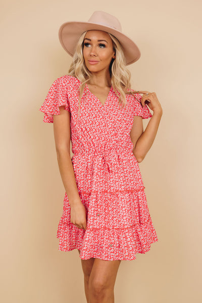 Aries Ruffle Floral Dress