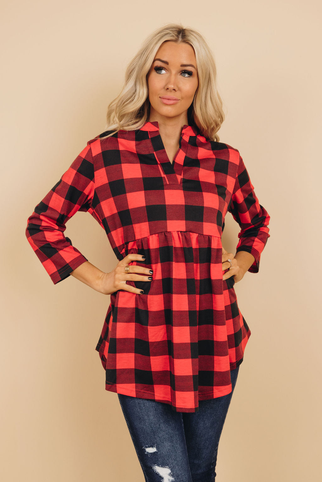 Extrovert Plaid Tunic