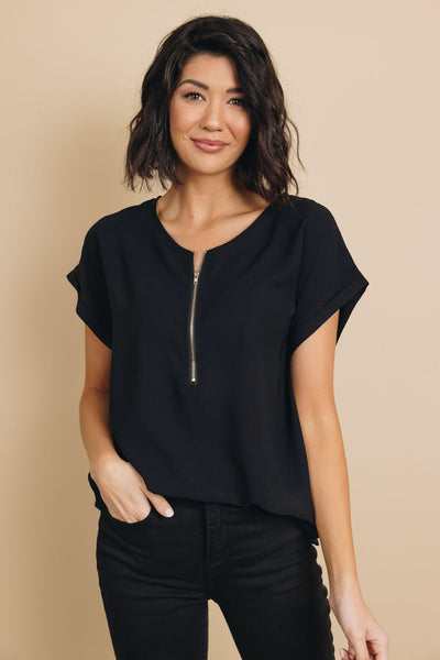 Zip To It Blouse