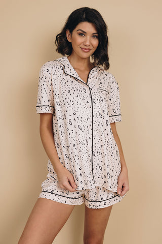 Iverson Printed Satin Pajama Set