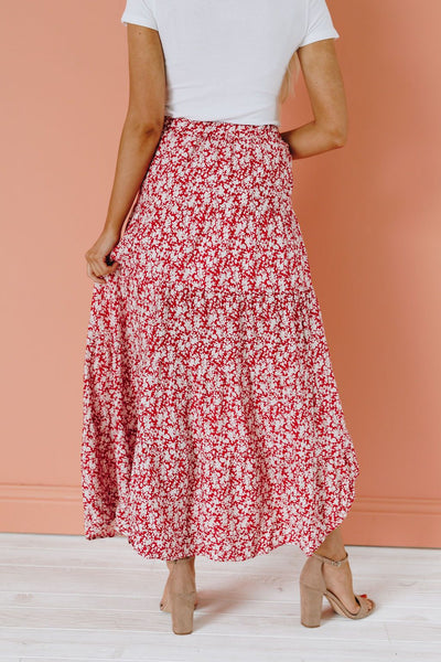 Woods Cross Ruffle Maxi Skirt