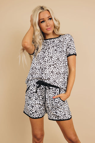 See U There Leopard Loungewear Set