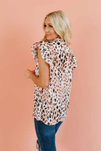 Sweet Talk Patterned Ruffle Top