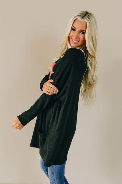 All Zipped Up Lips Pocket Tunic