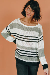 Fashion Capital Striped Knit Sweater