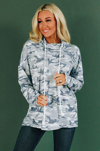 Joe Camo Drawstring Sweatshirt