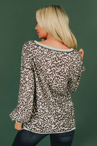 Feisty & Fierce Leopard Top