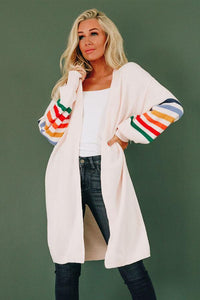 Sav Striped Ballon Sleeve Cardi