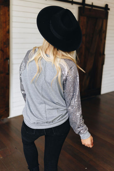 All That Glitters Sequin Knit Top