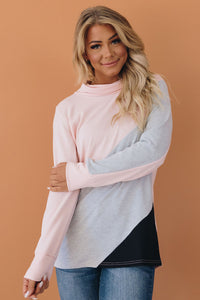Willis Colorblock Turtleneck Pullover