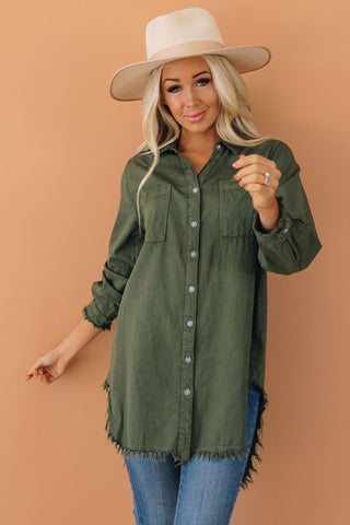 Wallace Denim Fringe Tunic
