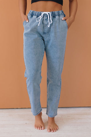 Welcome Home Denim Joggers