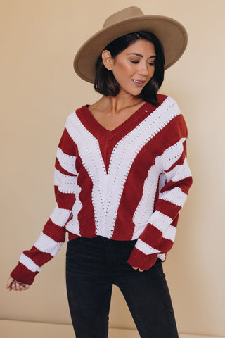 Afterglow Striped Sweater