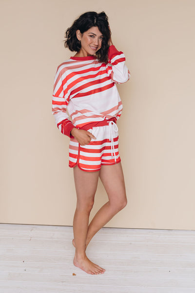 Loving Him Was Red Striped Loungewear