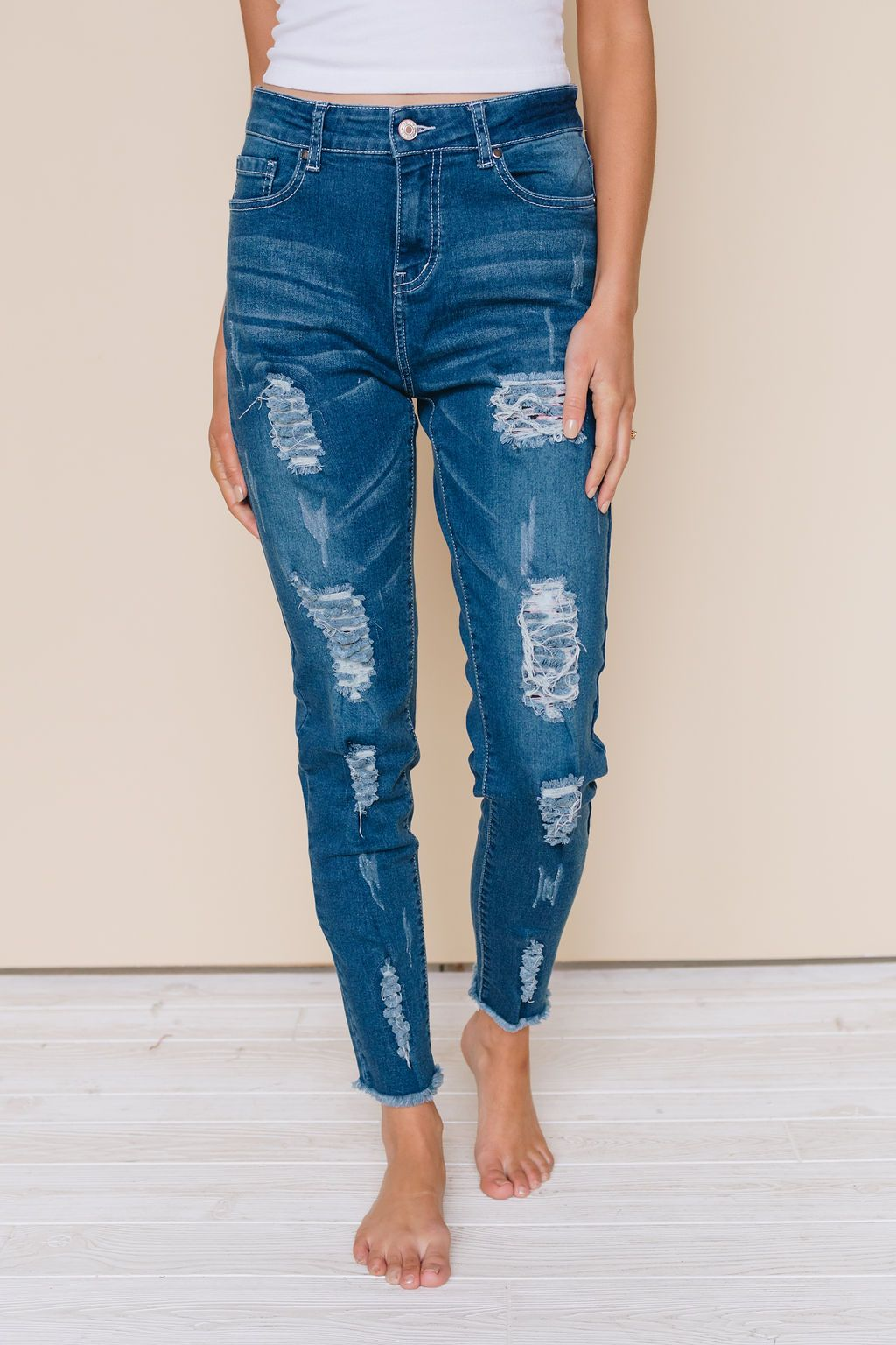 Singapore Leopard Patch Jeans