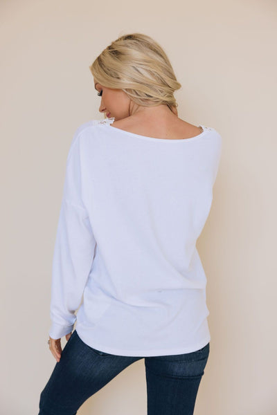 Elaine Lace Trimmed Top