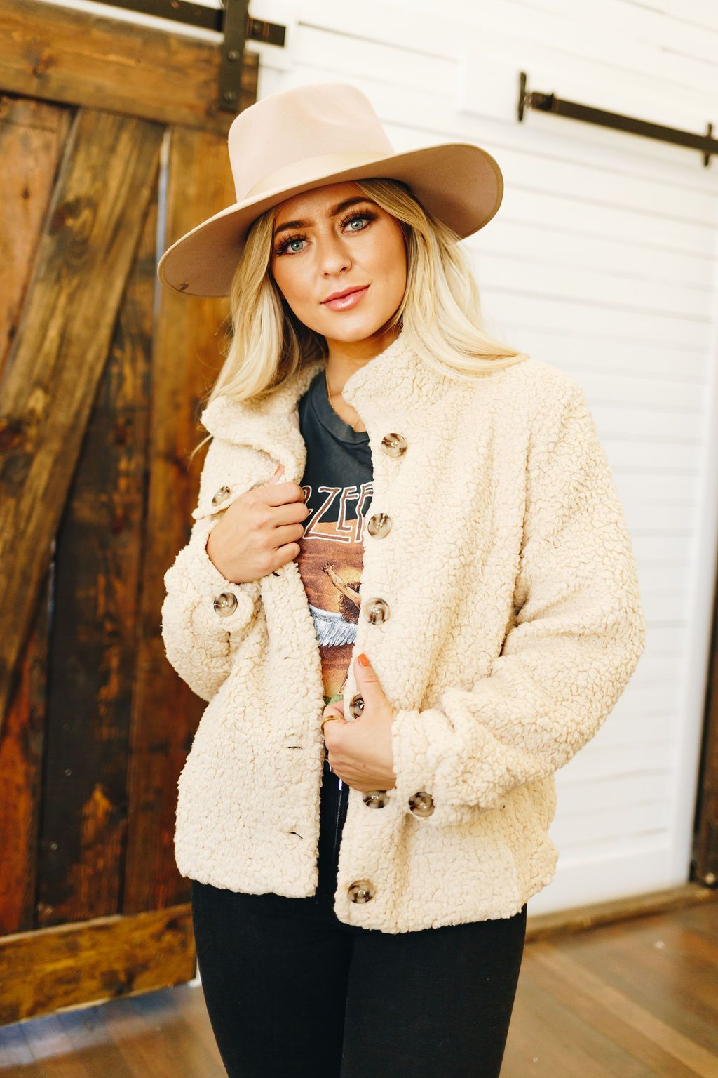 Let Me Be Sherpa Crop Jacket
