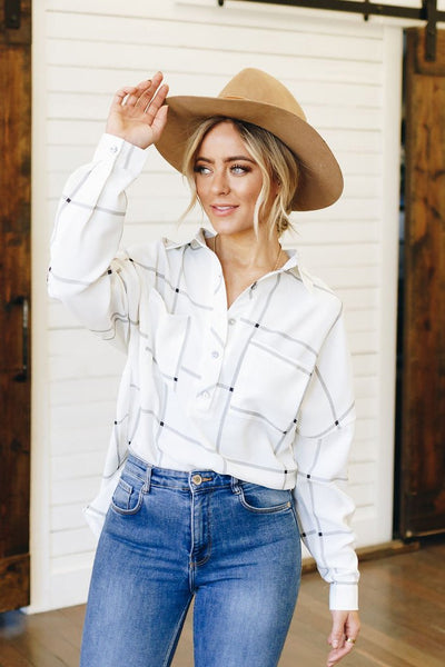 Mad About Plaid Button Up Top