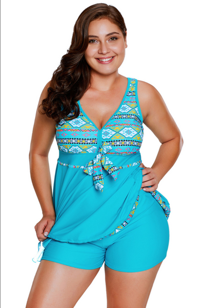 Colors of the Wild Long Tankini