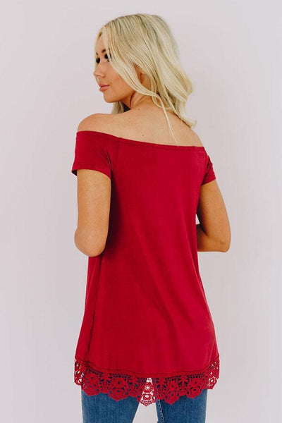 Center Point Road Off The Shoulder Top