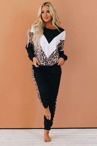 Sabor Cheetah Jogger Set