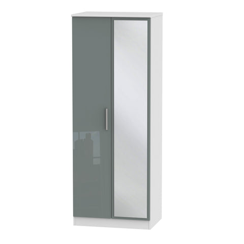 Knightsbridge Tall 2ft 6in Mirror Wardrobe