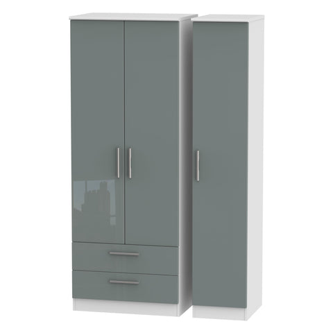 Knightsbridge Tall Triple 2 Drawer Wardrobe