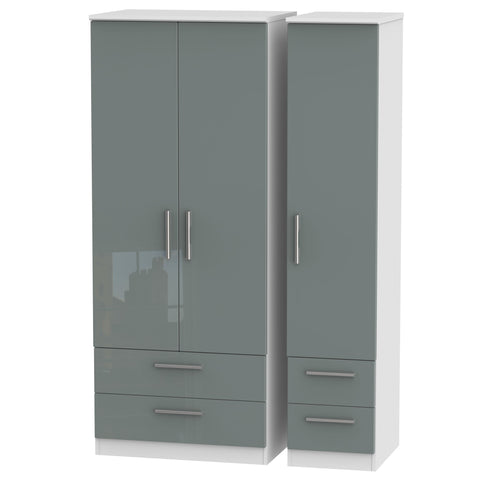 Knightsbridge Triple 2 Drawer + Drawer Wardrobe