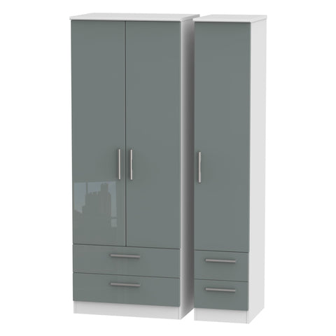 Knightsbridge Tall Triple 2 Drawer + Drawer Wardrobe