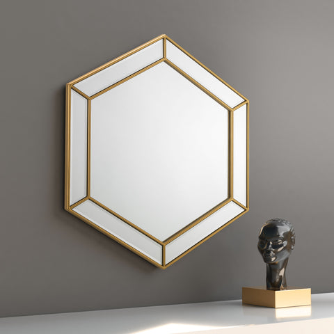 Melody Hexagonal Wall Mirror